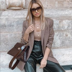 Zara oversized blazer bloggers favorite